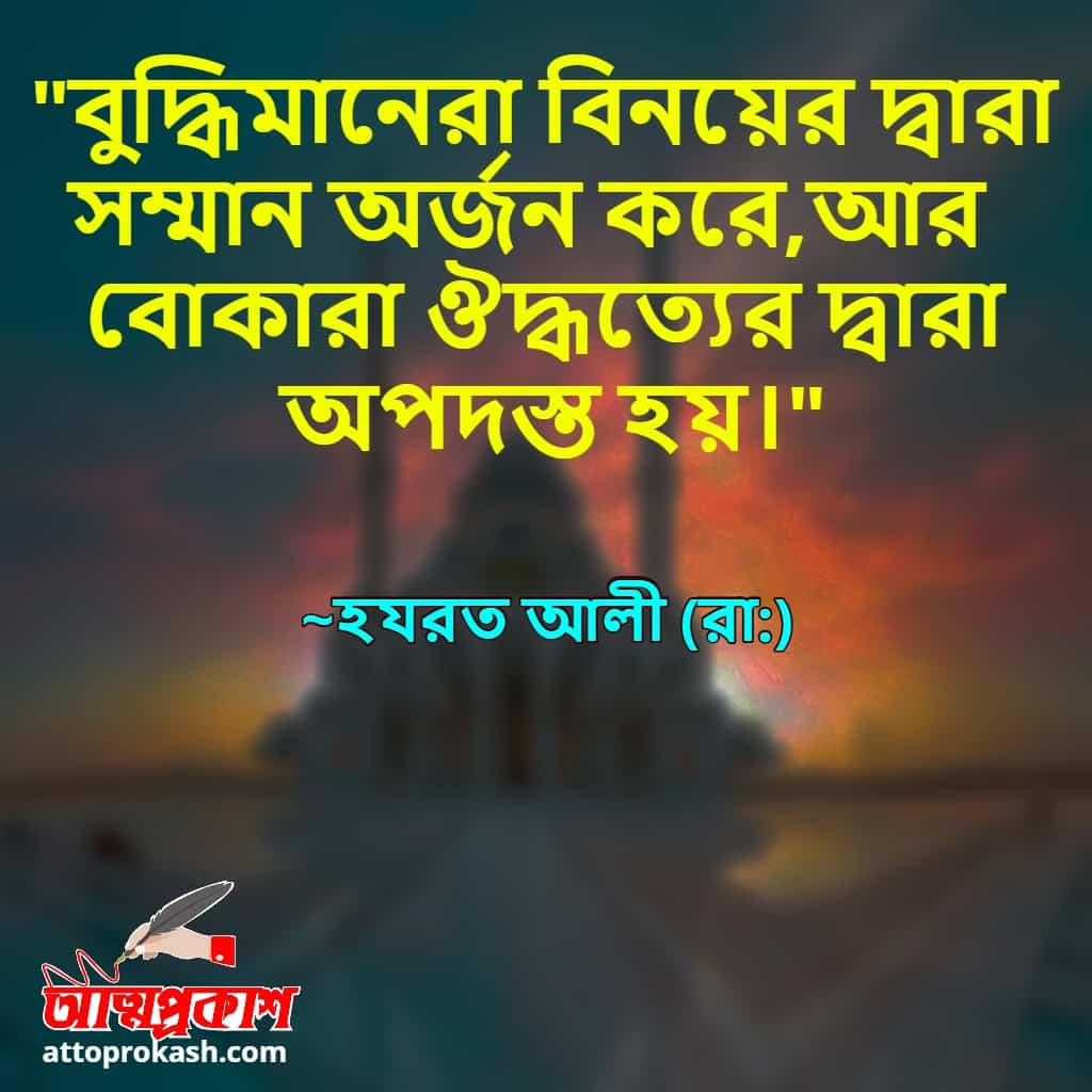 সম্মান-নিয়ে-হযরত-আলী-(রাঃ)-এর-বাণী-hazrat-ali-quotes-on-respect-in-bangla-bangla-bani