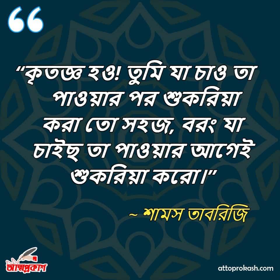শামস-তাবরিজির-কৃতজ্ঞতা-নিয়ে-উক্তি-Shams-Tabrizi-quotes-on-gratitude-in-bangla--bangla-bani